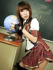 Big dick Japanese ladyboy Serina  in schoolgirl uniform